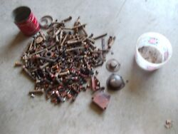 Farmall Cub M H Tractor Ih Ihc Box Of Bolts And Parts Nuts Pieces Covers Cap