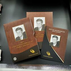 2015 Coin And Chronicles John F Kennedy Jfk Set 2 Coins And 1 Medal Ogp
