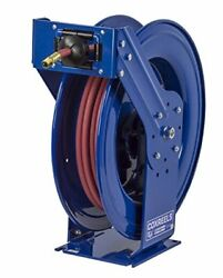 Tsh-n-3100 Retractable Air Water Or Oil Hose Reel T 3/8 X 100and039 With Hose