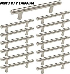3.5 Inch Drawer Pulls Brushed Nickel 15 Pack Cabinet Handles 3-1/2in 90mm Center