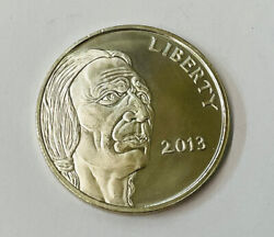2013 United States Liberty Indian Head Buffalo 1oz .999 Fine Silver Round Coin