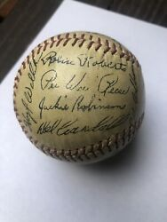 1953 National League All-star Team Autographed Stamped Baseball