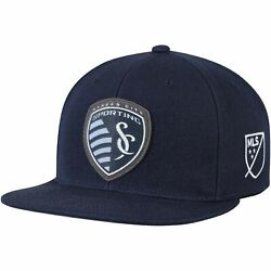 Sporting Kansas City Mitchell And Ness Silicon Grass Adjustable Snapback Hat -