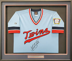 Twins Kirby Puckett Auto Framed Majestic Collection Jersey Beckett Aa01160