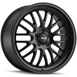 Staggered-ridler 607 Front18x8rear18x9.5 5x5 +0mm Matte Black Wheels Rims