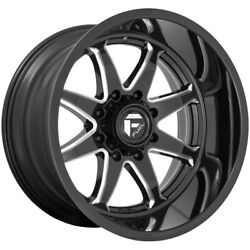 5-fuel D749 Hammer 22x10 5x5 Black/milled Wheels Rims 22 Inch Jeep Jk Jl