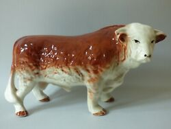 Giant Countryside Farm Cattle Hereford Butchers Shop Bull Ring 37cm 14 Free Uk