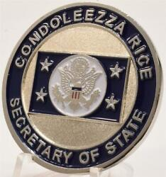 Authentic Condoleezza Rice Secretary Of State Secstate Department Challenge Coin