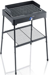 Severin Pg8563 Standing Grill With Barbecue Grid 2200 W Black E Bbq Electric