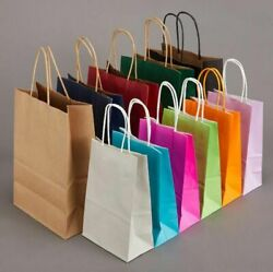 Fashionable Kraft Paper Bag Gifts Brown Color Handle Shopping Excellent Quality