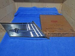 1961 Mercury Meteor Monterey Roof Pillar Outside Side Panel And Ornament Nos