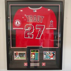 Mike Trout Signed Autographed Auto Custom Framed Los Angeles Angels Jersey