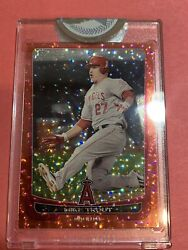 2012 Bowman Chrome Mike Trout Red Ice Refractor /25 Sp