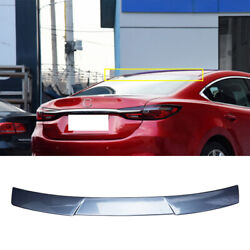 Blue Abs Roof Spoiler Tail Lip Wing Bar Trim 1x Fit For Mazda 6 Atenza 2020-2021