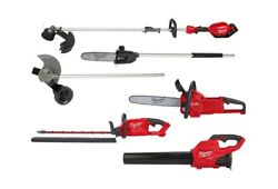 Cordless 18volt Li-ion Fuel Hedge Trimmer Pole Saw Edger Blower Chainsaw Combo