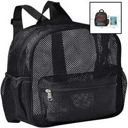 Semi TRANSPARENT Mini Mesh Backpack See Through SMALL For Commuting Swimming Tra $20.80