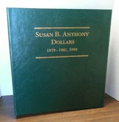 18 Coins In Littleton Album Lca12 Susan B. Anthony Dollars 1979-81+99 W/ Proofs