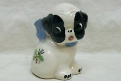 Vintage Block Pottery California 4 Planter Little Dog With Bee On Butt Vg
