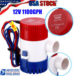 12v 1100gph Electric Marine Submersible Bilge Sump Water Pump For Boat Yacht