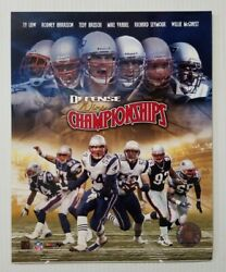 New England Patriots Defense Wins Championships Player Collage 8x10 Photo File