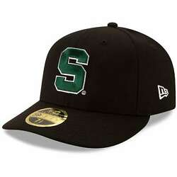 Michigan State Spartans New Era Basic Low Profile 59fifty Fitted Hat - Black