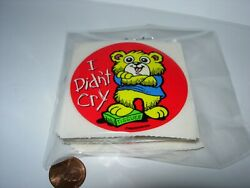 new 99 SHEETS CHILDRENS STICKERS CRAFTS I DIDN#x27;T CRY GOOD BEHAVIOR TEDDY BEAR