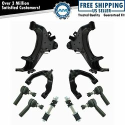 Front Control Arm Ball Joint Sway Bar Tie Rod Steering Suspension Kit Set 10pc