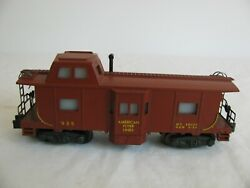 Vintage 1957 American Flyer S Scale Lighted Afl Bay Window Caboose 935 Ex