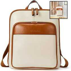 BOSTANTEN Genuine Leather Backpack Purse Casual College Travel Bags For Women $78.78