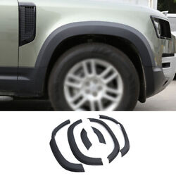 Wheel Eyebrow Arches Fender Flares 6pcs Fit For Defender 110 2020-2021 Black Abs