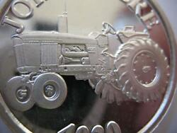 1-oz.john Deere Model 4020 Tractor Christmas Gift.999 Proof Edt Silver Coin+gold