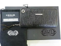 Bwl Bill Wall Leather Elephant Leather Wallet Dark Gray With Box And Certificate