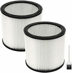 2 Pack 90304 Cartridge Filter For Shop Vac 90350 90333 Fit Most Wet/dry Vacuum