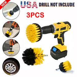 Drill Brush Power Scrubber Kit Cleaning Brush Extended Long Attachment 3 Pack