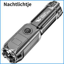 Flashlight Strong Light Rechargeable Zoom Super Bright Xenon Special Forces
