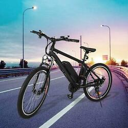 26 36v 250w Black Electric City Bicycle E-bike Shimano 21 Speed Pedal Assist