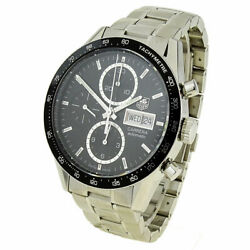 Tag Heuer Carrera Day Date Stainless Steel Automatic Wristwatch Cv201ag