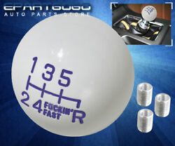For Chevy Fand039ing Fast 6-speed Threaded Round Ball Race Shift Knob Lever Purple