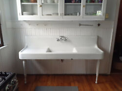 Vintage Farmhouse Cast Iron Sink With Legs