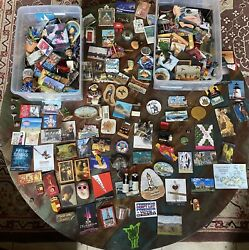 Vintage Refrigerator Magnets Lot Of Over 500, Rubber, Metal, States, Souvenirs