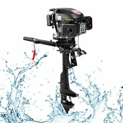 Gasoline Outboard Motor 4-stroke 6hp Fishing Boat Engine Air Cooling 2500rpm