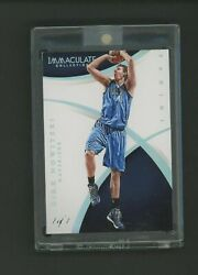 2014-15 Immaculate Platinum Dirk Nowitzki Dallas Mavericks 1/1