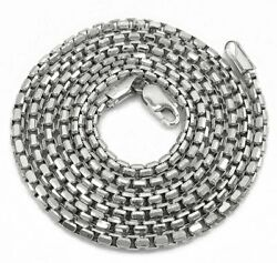 14k White Gold Round Box 1mm - 2.5mm Chain Rolo High Polish Link Necklace