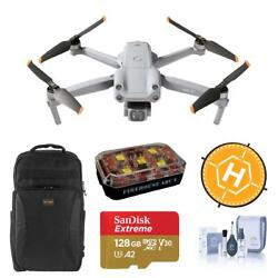 Dji Air 2s 4k Drone With Backpack, 128gb Card, Strobe Light Accessories