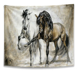 Horse Tapestry Wall Hanging Home Bedroom Living Room Dorm Decor Wall Blanket