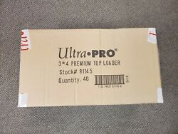 1000 Ultra Pro Premium Top Loaders Case 40 Packs Of 25 Standard 3x4 Size