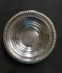 .925 Sterling Silver Rogers 6w X 1.5 Inch Deep Dish 4011