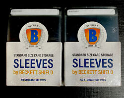 100 Beckett Shield Semi Rigid Card Holders Standard Size Grading Free Shipping