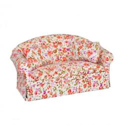 Dolls House Floral Sofa Country Cottage Chintz Miniature Living Room Furniture