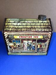 Vintage Rare Towleand039s Log Cabin Syrup Tin Frontier Inn 1950and039s